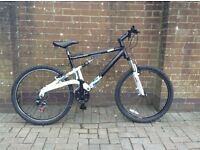 Gents/teenagers alloy frame full suspension mountain bike
