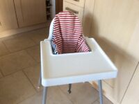 Ikea white baby and toddler high chair