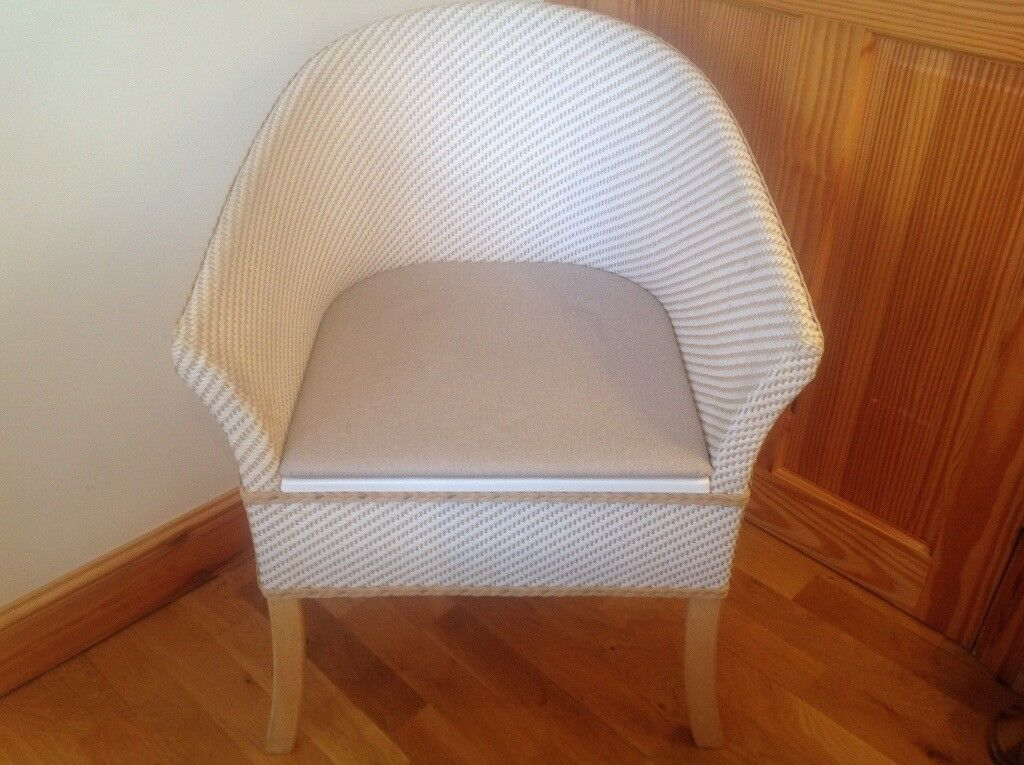 Excellent Basket Weave Discreet Commode Chair With Padded Seat