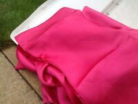 Wedding / event fuchsia pink satin chair sashes