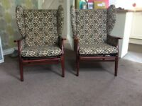 Pair of Vintage Armchairs for sale £60