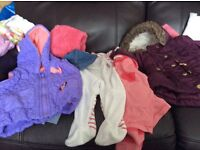 21 items of baby girls clothes aged 3 to 6 months