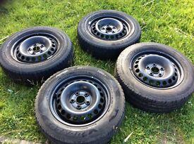 Volkswagen T5 4 X Steel Wheels