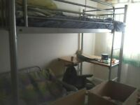 Bunk bed with desk and futon underneath! Moving!