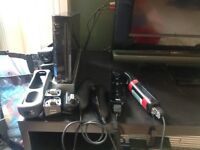 Nintendo Wii and 2 controllers
