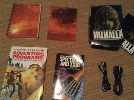 ZX Spectrum Manuals, leads, books, software