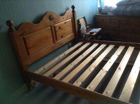 Solid Pine Bed Frame