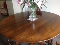 WAKE/HUNT/COFFIN GATELEG TABLE AND FOUR CHAIRS