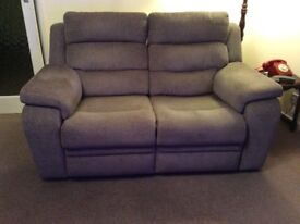 DFS ALLONS Two seater manual recliner 12 months old, great condition.
