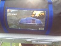 Tent. Hi gear Zenobia 6 with porch and carpets excellent condition