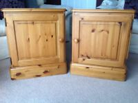 Ducal pine side cupboards