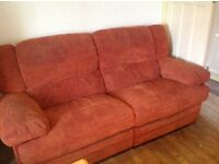 Large reclining sofa