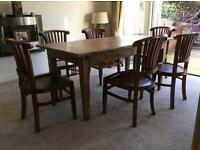 Dining table and 6 chairs by Raft
