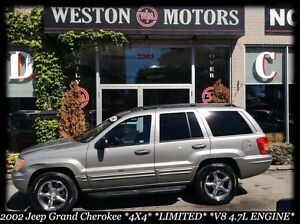 2002 Jeep Grand Cherokee 4X4* LIMITED* QUADRA DRIVE* V8* LEATHER