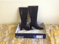 Gabor Ladies Black Leather High Boots.