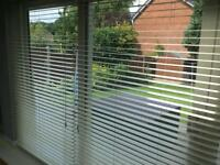 Full Length Cream Wooden Slat Blinds