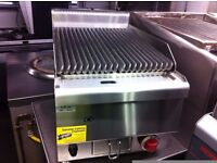 NEW SLIM CHARCOAL GRILL GAS MODEL CATERING BBQ KEBAB GRILL FAST FOOD RESTAURANT TAKE AWAY KITCHEN