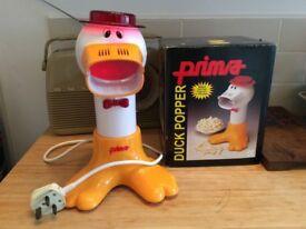 Retro Prima duck popper hot air fat free popcorn maker