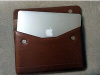 """Leather slip case for MacBook 11""""/12"""" or similar – new and unused"""