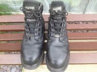 Work boots with steel toe cap and Goretex lining.