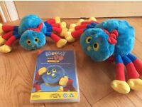 Woolly and tig -CBeebies -2 spiders &dvd