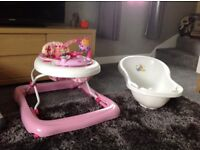 Baby walker bath and baby chair