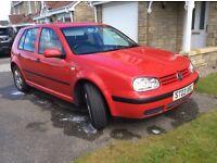 2003 Volkswagen Golf TDI SE 1.9, Red, Diesel, Manual £600 OVNO