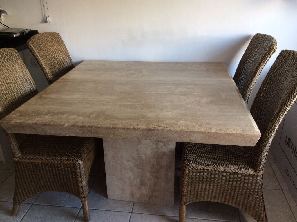 MarbleTravertine Dining Table and 4 Chairs in Boston  : 86 from www.gumtree.com size 1024 x 765 jpeg 111kB