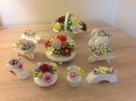 Royal Doulton floral china ornaments