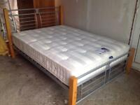 """ORNATE DOUBLE BED & MATTRESS from """"DREAMS"""""""