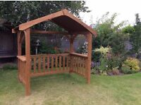 Wooden Barbecue Pavilion/Seating Arbour