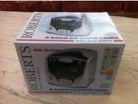 ROBERTS CD CUBE - 3 BAND CD & CLOCK RADIO WITH DUAL ALARM - BRAND NEW