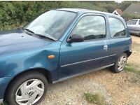 Nissan micra 76000miles good runaround or for spares good tyres MOT just expired