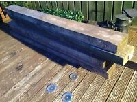 Railway Sleepers 8ft Long - BRAND NEW
