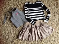 Girls skirt and 2 tops age 8/10