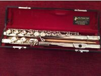 Flute John Parker Jupiter silver plated in very good condition