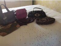 For Sale 6 Handbags 2 DKYN 2 Radley 1 Guess 1 Clarks £25 O.N.O