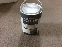 Two 5L tins of brilliant white paint for new plaster