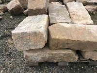 Reclaimed Sandstone for sale Blonde, Gray and Red cut and ready to lay.