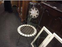 2 vintage cast iron garden chairs