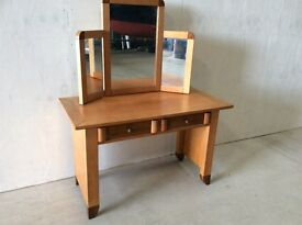 Contemporary 2 Drawer Dressing Table with Triple Mirror