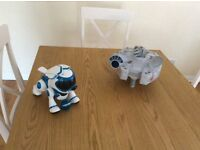 Robot battery operated dog and Starwars toy