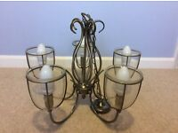 Antique Brass Finish 5 light chandelier, ceiling light
