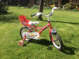 Child's bike with stabilizers