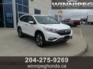 2015 Honda CR-V Touring. Local trade, One owner, Lease return