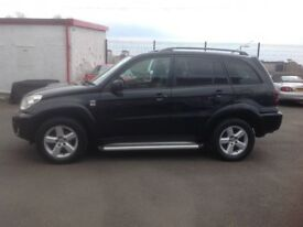 Toyota RAV4 D-4D 2.0 diesel 2005 104000 miles FSH (9 stamps) MOT JULY 2018 black 5 door