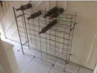 Metal wine rack hold 100 bottles