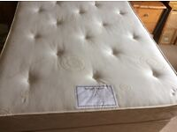 High Quality Double Bed with Brass Headboard for sale £200