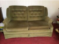Retro green sofa bed