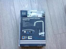 Contemporary kitchen mixer tap